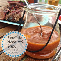 Sweet Tea Peach BBQ Sauce (Whole 30 Approved) 3