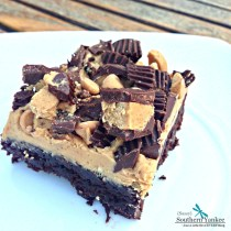 Dark Chocolate Peanut Butter Brownies 4