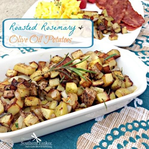 Roasted Rosemary & Olive Oil Potatoes 4