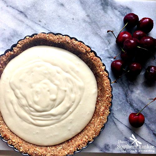 Honeyed Goat Cheese Cherry Tart from Sassy Southern Yankee