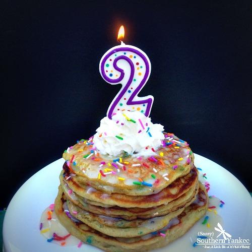 Funfetti Cake Batter Pancakes {Gluten Free} 1