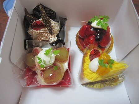 坂町のケーキ屋レクールのケーキでほっこり