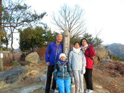 日浦山で初日の出