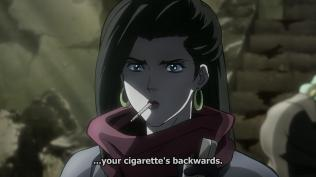your cigarette is backwards