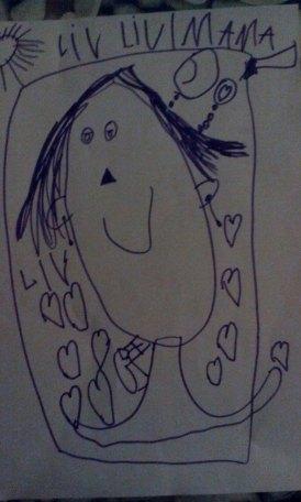 tekening mama