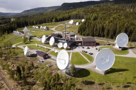 A satellite teleport