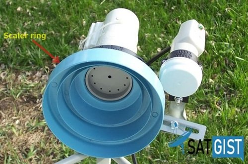 Scaler Ring On KU Band Dish
