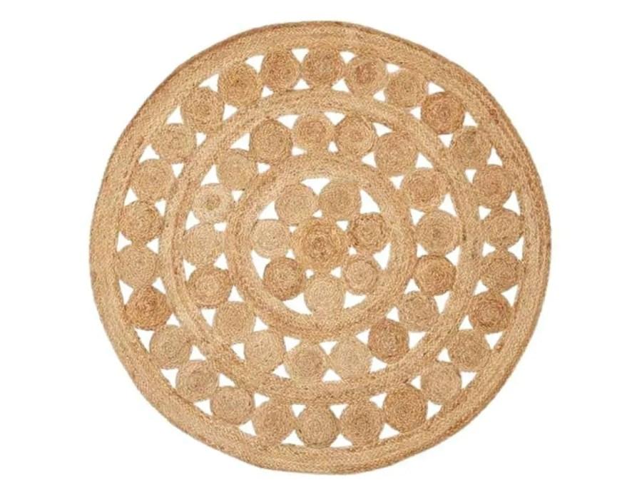 שטיח הודי טבעי בוהו שיק עגול
