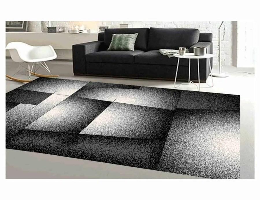 שטיח מודרני לסלון N5287A-אפור כהה
