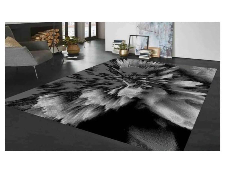 שטיח מודרני אפור שחור NO19