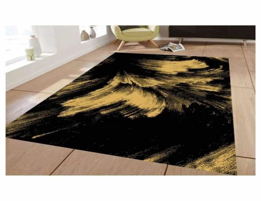 שטיח מודרני שחור זהב NO21