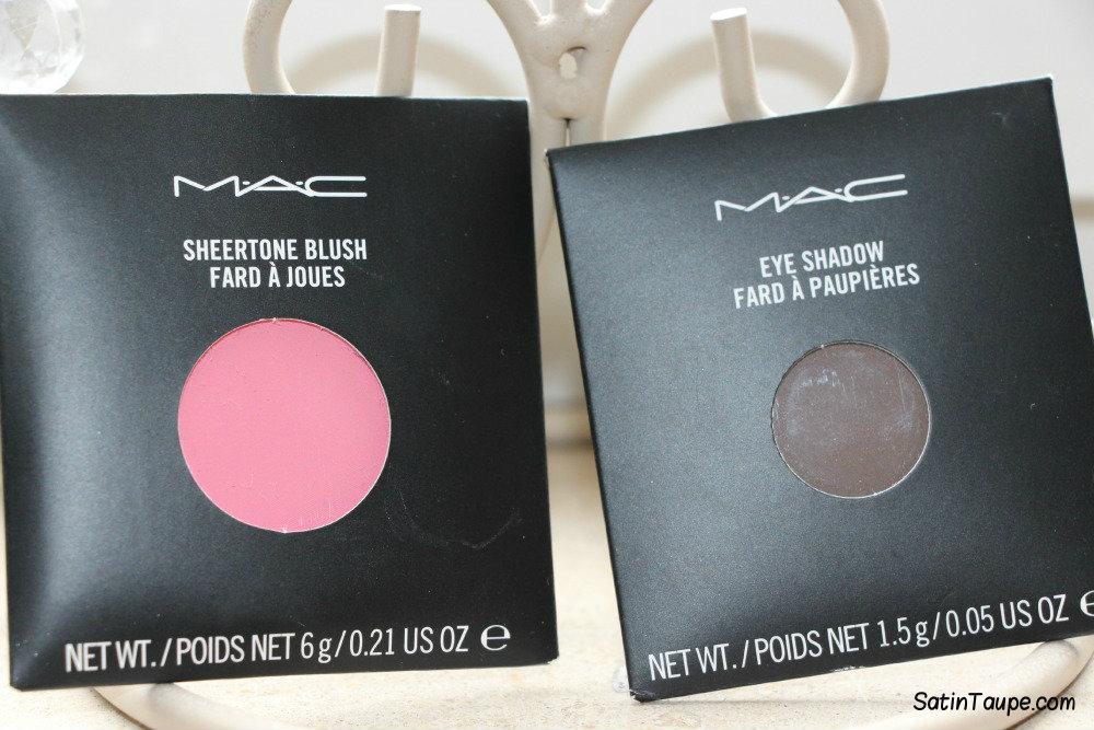 MAC Blush Pink Swoon & MAC Eyeshadow Brun