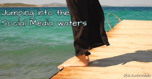 Feet on the dock ready to jump into social media