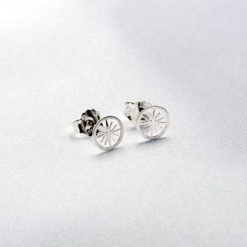 Boucles d'oreilles Polaris argent
