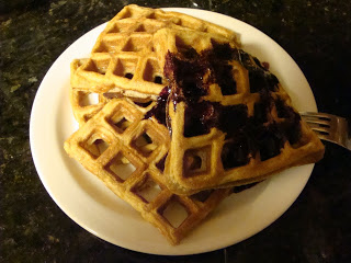 With Blueberry Syrup.