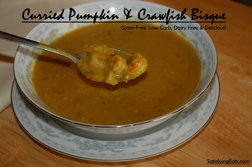 Curried Pumpkin & Crawfish (or Shrimp) Bisque (Dairy-Free)