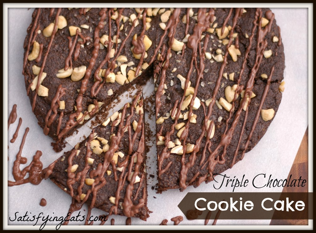 Triple Chocolate Cookie Cake