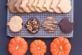 Pumpkin Patch Cutout Cookies & Jelly Cookies