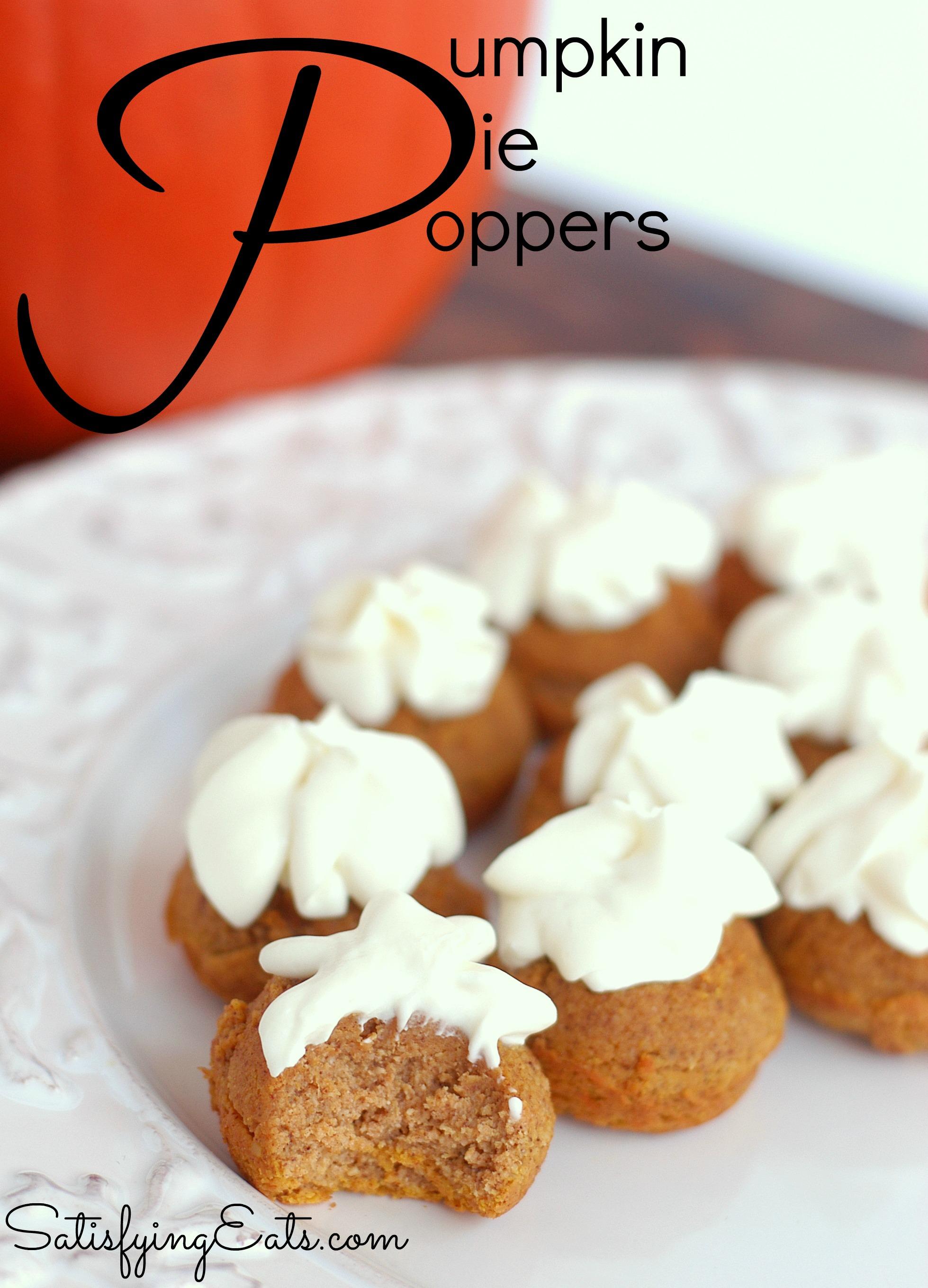 Pumpkin Pie Poppers