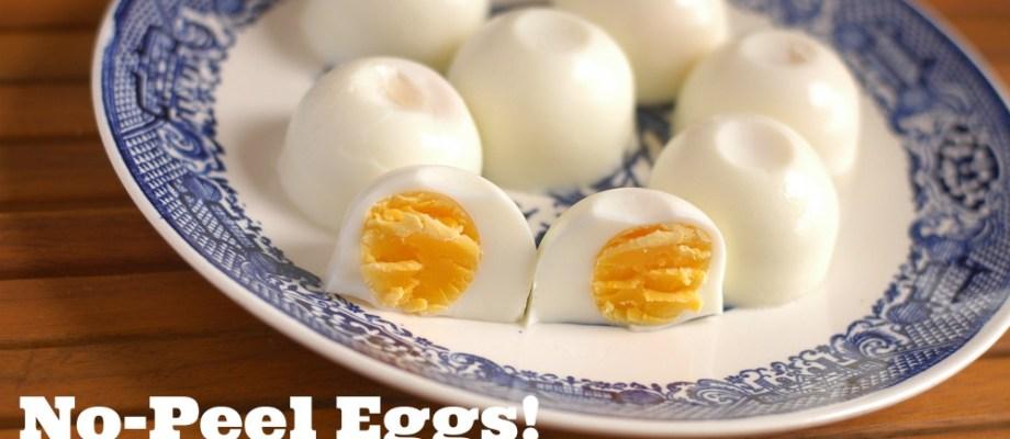 No-Peel Eggs: Just crack, drop & go!