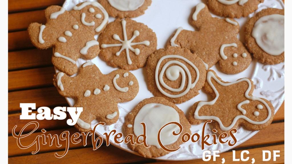 Easy Gingerbread Cookies. GF, LC, DF