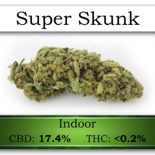 SUPER SKUNK CANNABIS FLOWER HEMP BUD UK LEGAL BY SATIVAWORX