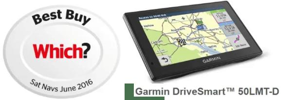 Garmin Drivesmart 50LMTD Voted Best Sat Nav