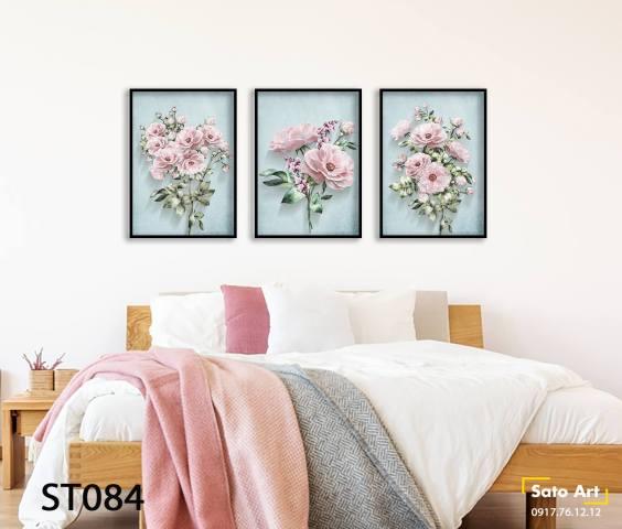Tranh hoa hồng sơn dầu đẹp