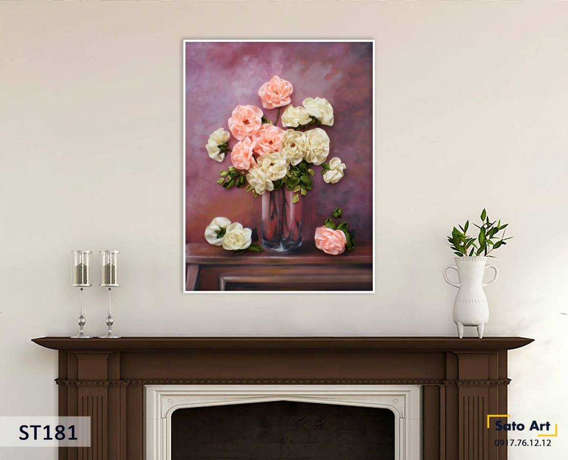 Tranh hoa hồng tinh tế