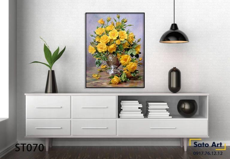 Tranh tĩnh vật lọ hoa