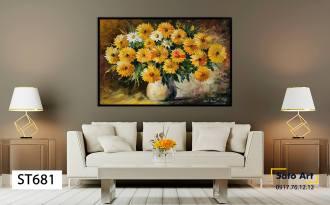 Tranh sơn dầu hoa cúc