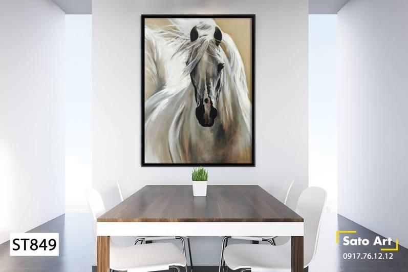 Tranh chú ngựa kiêu hãnh