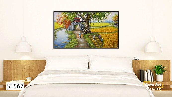 Tranh vẽ phong cảnh làng quê