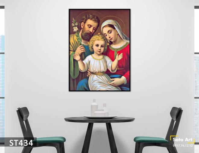 Tranh sơn dầu gia đình thánh
