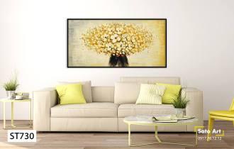 Tranh sơn dầu hoa vàng