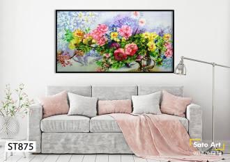 Hình ảnh tranh sơn dầu bông hoa
