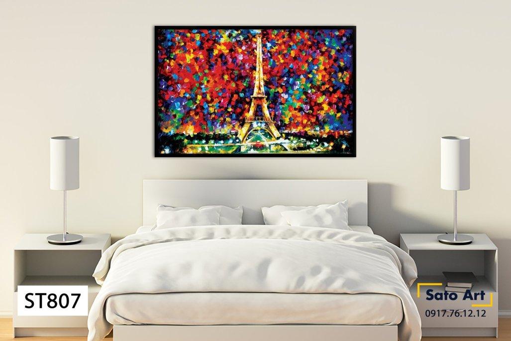 Tranh phong cảnh thành phố Paris
