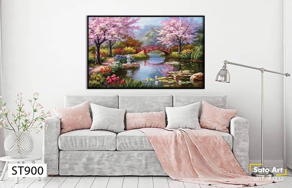 Tranh phong cảnh mùa xuân