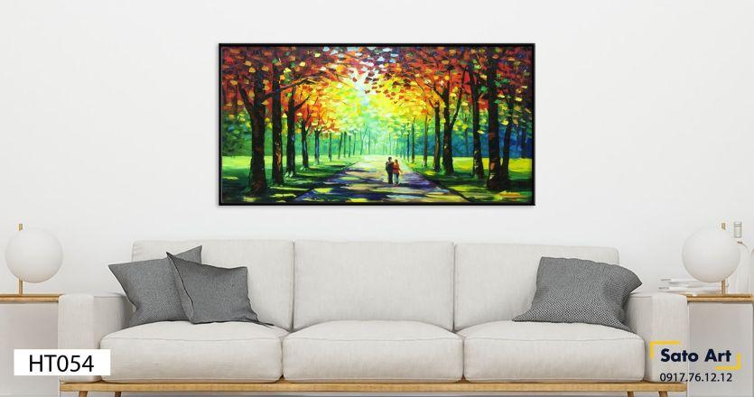 Tranh sơn dầu phong cảnh con đường đẹp