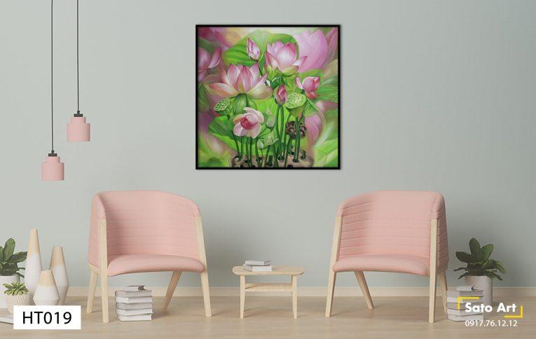 Tranh hoa sen treo tường đẹp