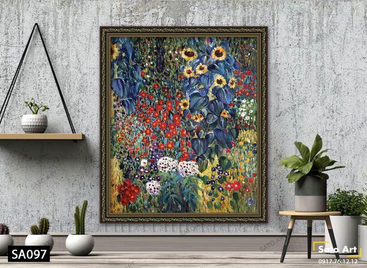 tranh_Farm Garden with Sunflowers