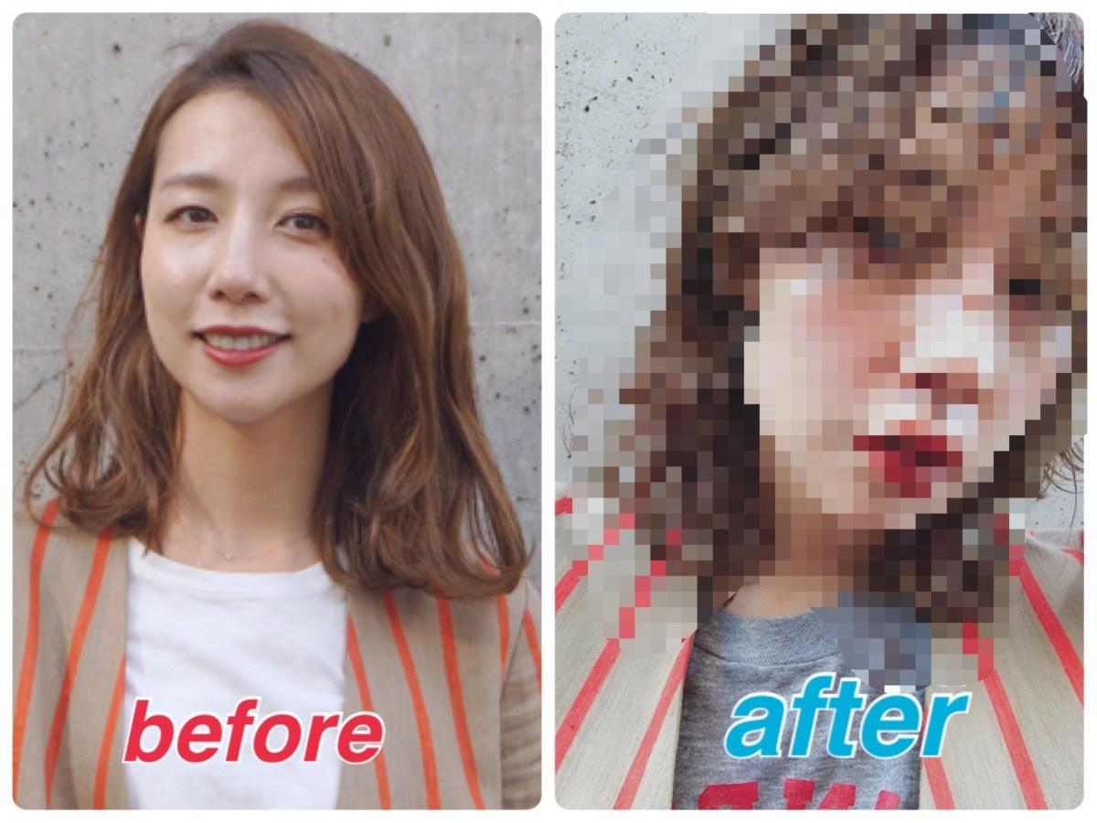 エロ髪美容師、今期トレンドのウルフヘアにイメチェンしました。