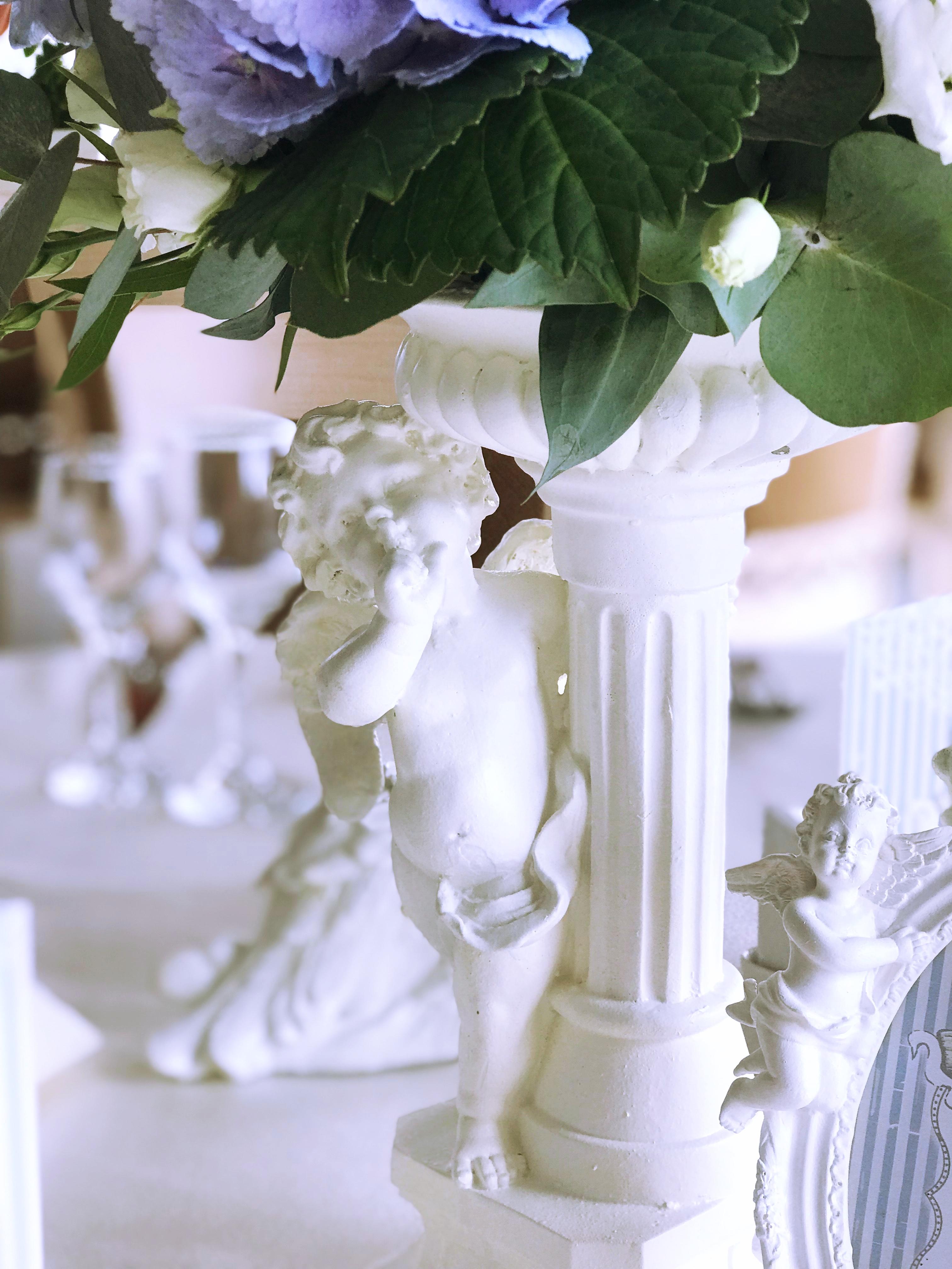 Botez Cu Decor Romantic Delicat White Angel At Grand Hotel Italia