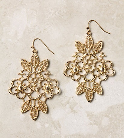Anthropologie Earrings-Iron Lace Drops