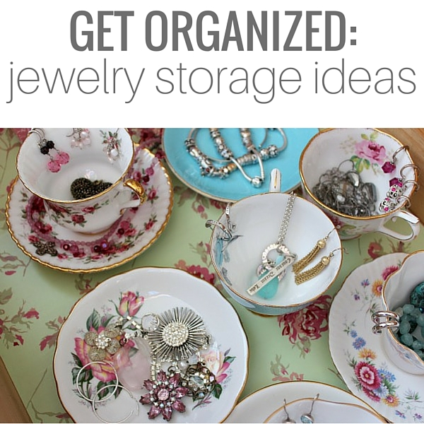 Beautiful and Clever Jewelry Storage Ideas - Vintage Tea Cup and Saucer Jewelry Organization - Satori Design for Living