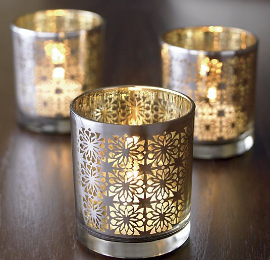 Fall Decorating Ideas - Raj Candle Holder from Crate & Barrel