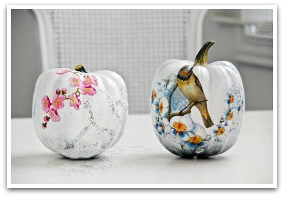 Decoupaged Pumpkins via Funkytime
