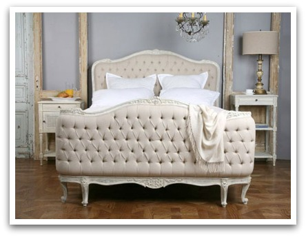 Button Tufted Bed via Layla Grayce