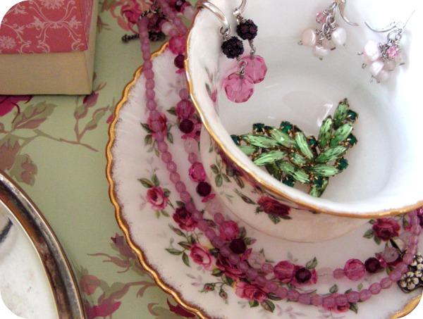 Teacup & Saucer Jewelry Organization