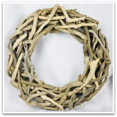 Large Driftwood Wreath via Decorative Branches